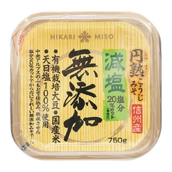 Hikari reduced salt additive free miso top