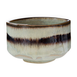 Matcha bowl brown stripe