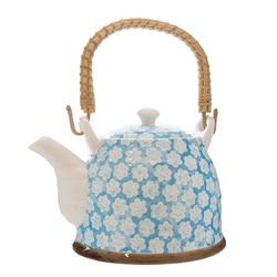 6866 blue flower teapot