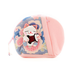 10329 lucky cat make up bag pink