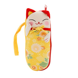 10333 lucky cat glasses case yellow