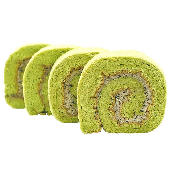 4010 matcha azuki swiss roll sliced