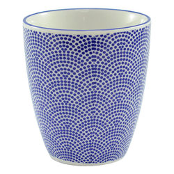11098 ceramic teacup dotted waves