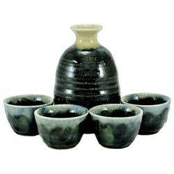 11264 sake set black blue silver main