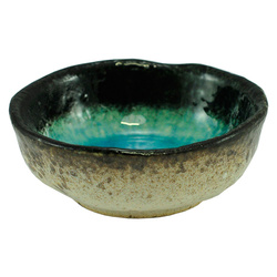 11259 ceramic soy sauce dish blue front