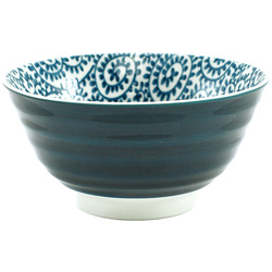 11268 rice bowl swirled leaf front
