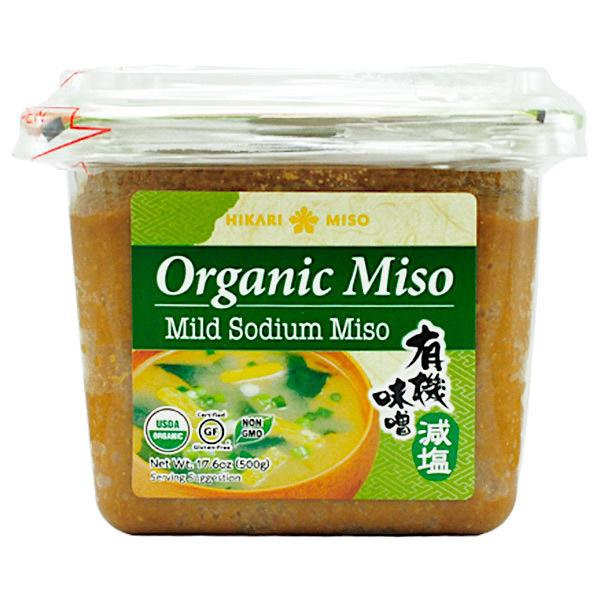 Hikari mild sodium miso front