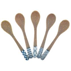 11631 teaspoons brown blue patterns