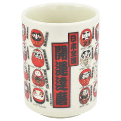 11574 teacup multiple daruma pattern