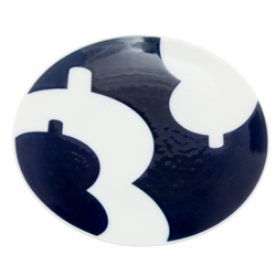 12214 ceramic small serving plate blue gourd pattern