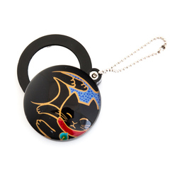 11923 slide mirror keychain black cat