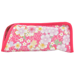 12251 japanese fabric sakura glasses case pink