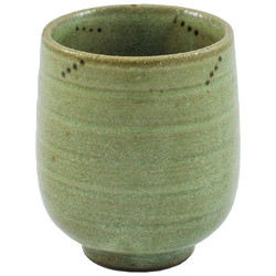 11896 ceramic teacup green stripe