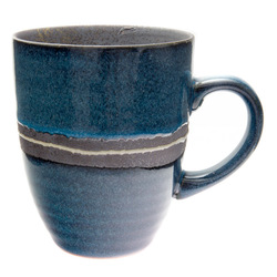 11763 ceramic mug blue brown stripe