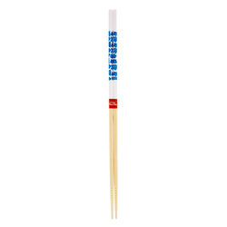 11877 wooden cooking chopsticks white blue flower pattern
