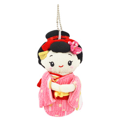 12401 mru company maiko soft doll key chain pink purple