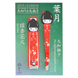 12447 corazon kokeshi nail clipper tweezers set