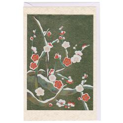 12193 greeting card winter sakura