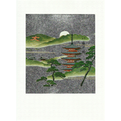12590 pagoda in kyoto greeting card