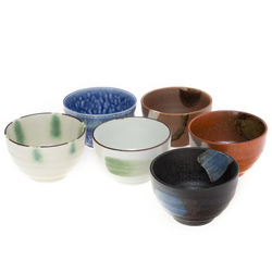 12298 ceramic rice bowl set for six