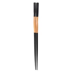 12371 twisted bamboo chopsticks black