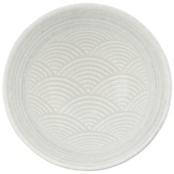 11821 ceramic bowl white wave top