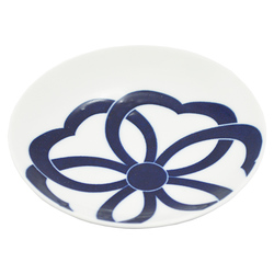 12619 ceramic small serving plate blue cherry blossom