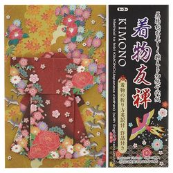 12689 kimono yuzen origami front