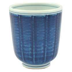 12698 ceramic teacup blue