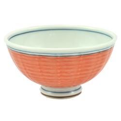 12696 ceramic rice bowl red