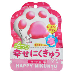 12753 senjyakuame paw shaped peach gummy candy