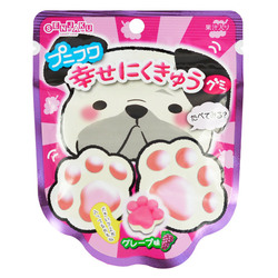 12752 senjyakuame paw shaped grape gummy candy