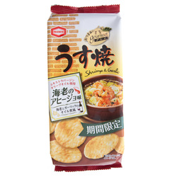 12778 kamedaseika thin shrimp and garlic gourmet rice crackers