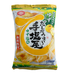 12823 kamedaseika teshioya yuzu salt rice crackers