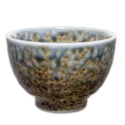 12908 ceramic teacup brown green