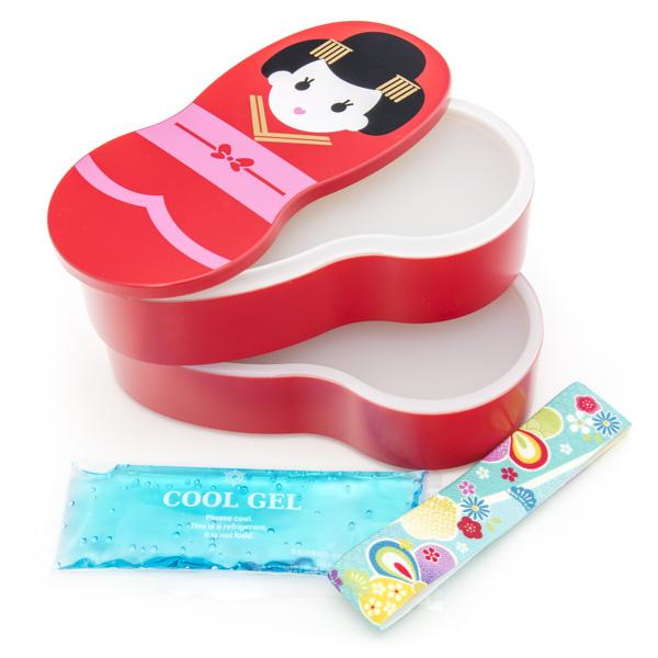 japan centre bento lunch box red maihime pattern bento. Black Bedroom Furniture Sets. Home Design Ideas