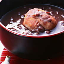Photo oshiruko sweet red bean soup