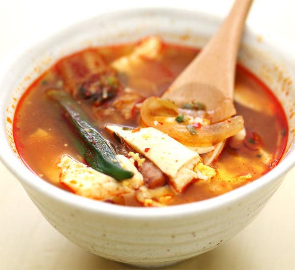 Kimchi and Tofu Soup