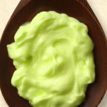 Photo wasabi and avocado mayonnaise