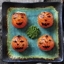 Halloween temari sushi crop