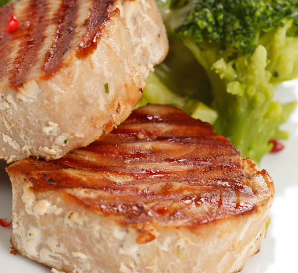 Grilled Tuna With Miso And Mayonnaise Marinade