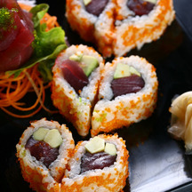 Photo heart shaped sushi