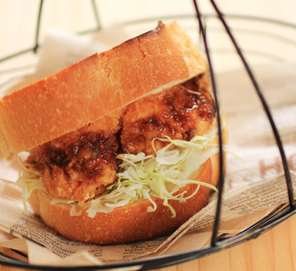 Menchi Katsu Burgers