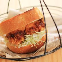 Menchi katsu burger cropped