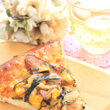 Photo teriyaki chicken pizza