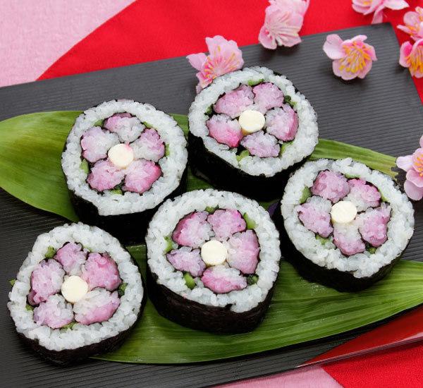Hina Matsuri Flower Sushi