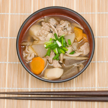 Photo tonjiru pork soup